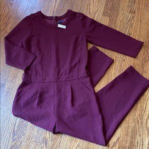 Madewell maroon plum jumpsuit with pockets